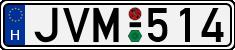 H-JVM-license-plate-Budapest