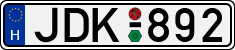 H-JDK-license-plate-Kecskemet